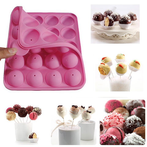 Silicone Cake Mold Lollypop Lollipop Cupcake Baking Mold Tray