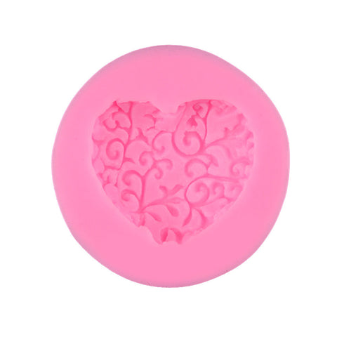 Heart Silicone Cake Mold DIY Fondant Mousse Dessert Chocolate Mould Tray