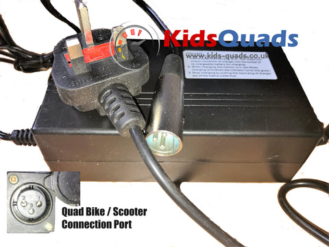 Battery Charger 48v 2.5A for Quad Bikes and e-Scooters - Kids Quads