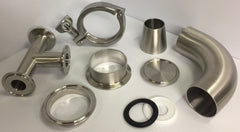 Sanitary Clamp & Weld Fittings