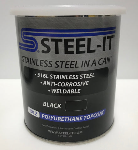 1 Quart STEEL IT BLACK Polyurethane Resin Coating
