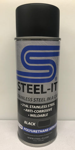 14oz Aerosol STEEL IT BLACK Polyurethane Resin Coating