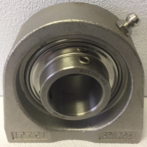 "1"" 2-Bolt Stainless Steel Flange Tapped Base"