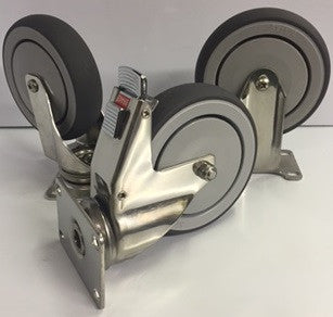 Stainless Steel Frame w/ Gray Thermoplastic Wheel