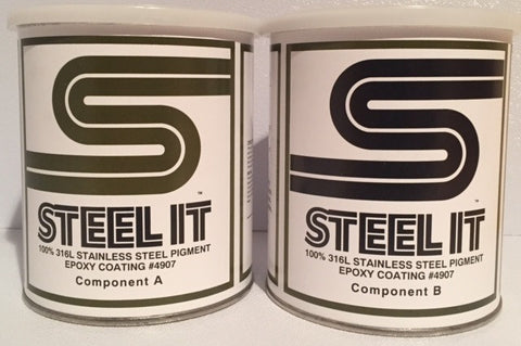 2 Quart Kit STEEL IT Epoxy Resin Coating