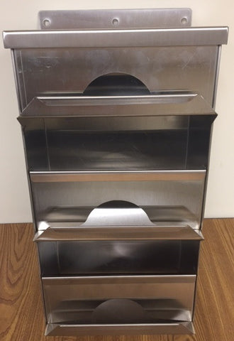 Three Compartment Dispenser - Wall Mounted