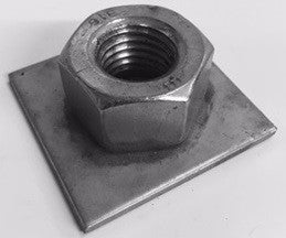 "1""-8 for 2"" Square Tubing End Cap for Adjustable Foot"