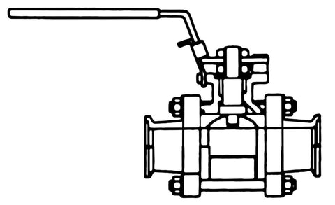 "1"" Sanitary Ball Valve (Non-cavity filled)"