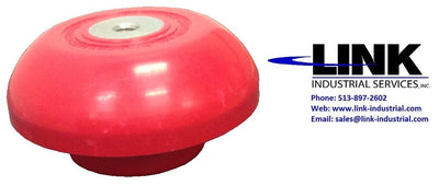 "99600-1, HK Porter Co, Insulator, Red Poly Fiberglass, Mushroom 2-5/8"" H (Qty 58 Available)"