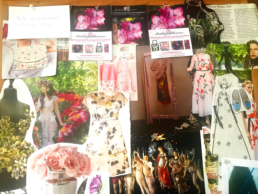 Birthday Blossoms Spring Vision Board
