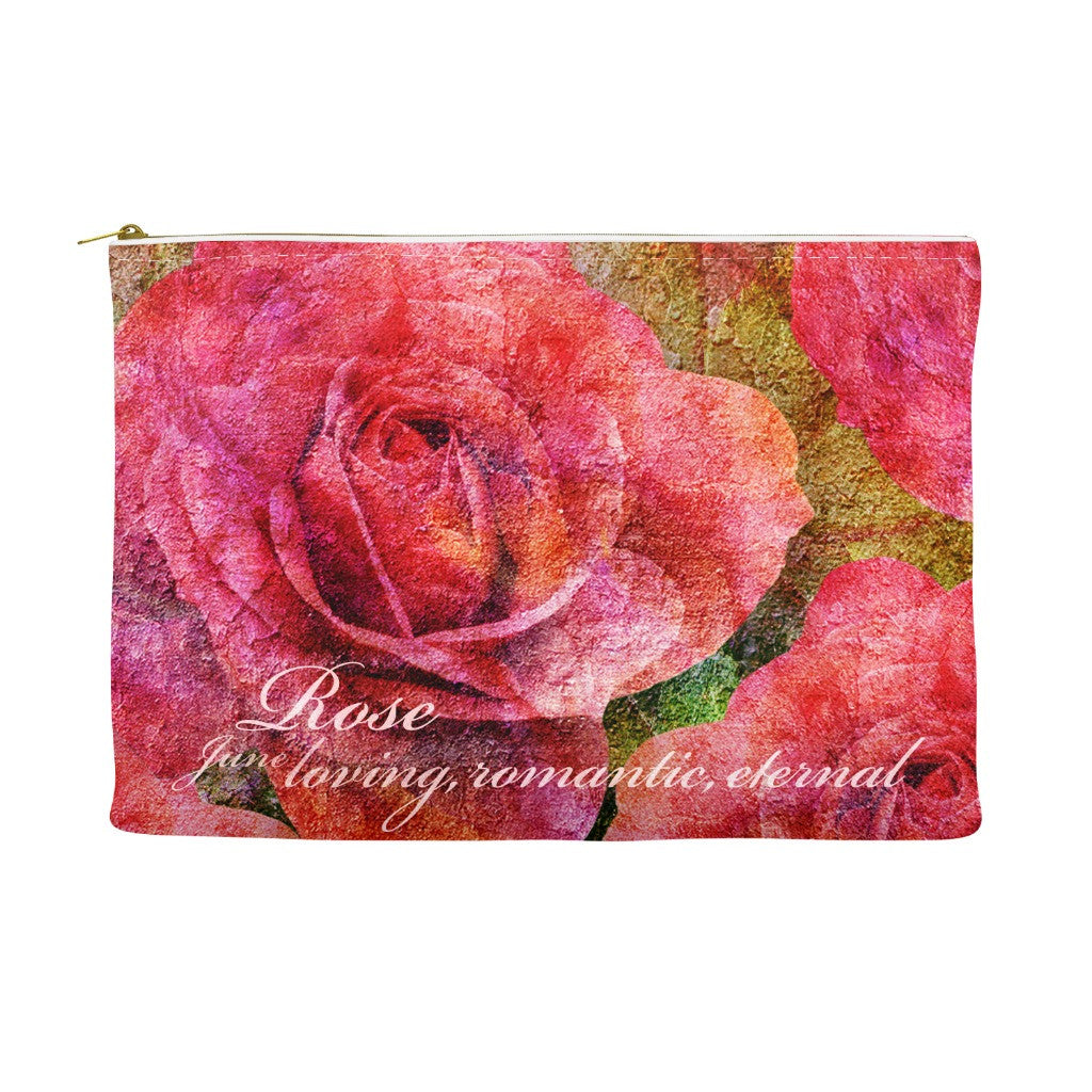 Birthday Blossom Cosmetic Pouch June Rose Birthdayblossoms