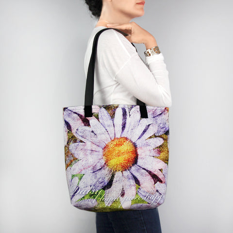 Birthday Blossom Tote Bag - April Daisy