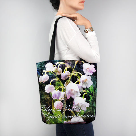 Birthday Blossom Tote Bag - May Lily of the Valey
