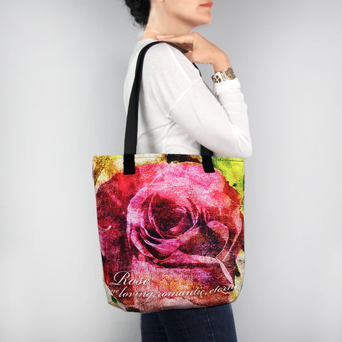 Birthday Blossom Tote Bag - June Rose