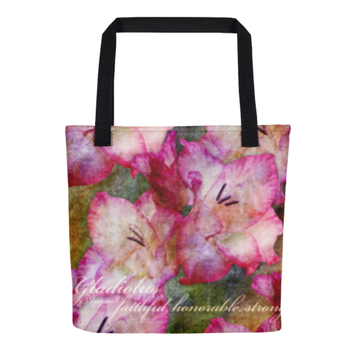 Birthday Blossom Tote Bag - August Gladiolus