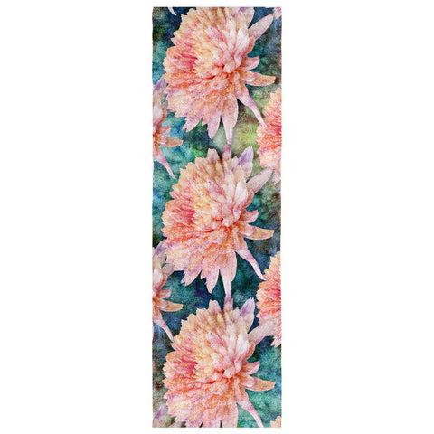 Birthday Blossom Poly Silk Scarf November, Chrysanthemum