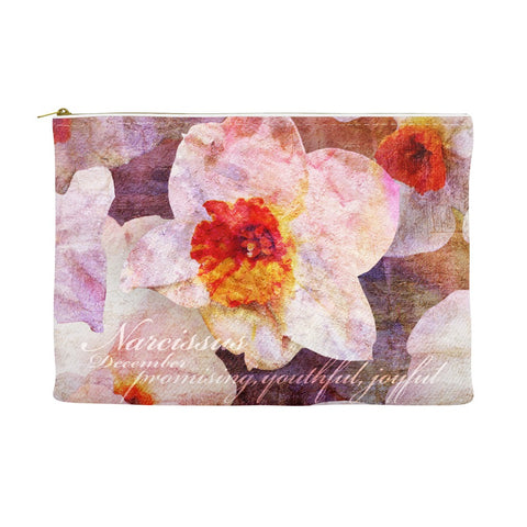 Birthday Blossom Cosmetic Pouch - December, Narcissus