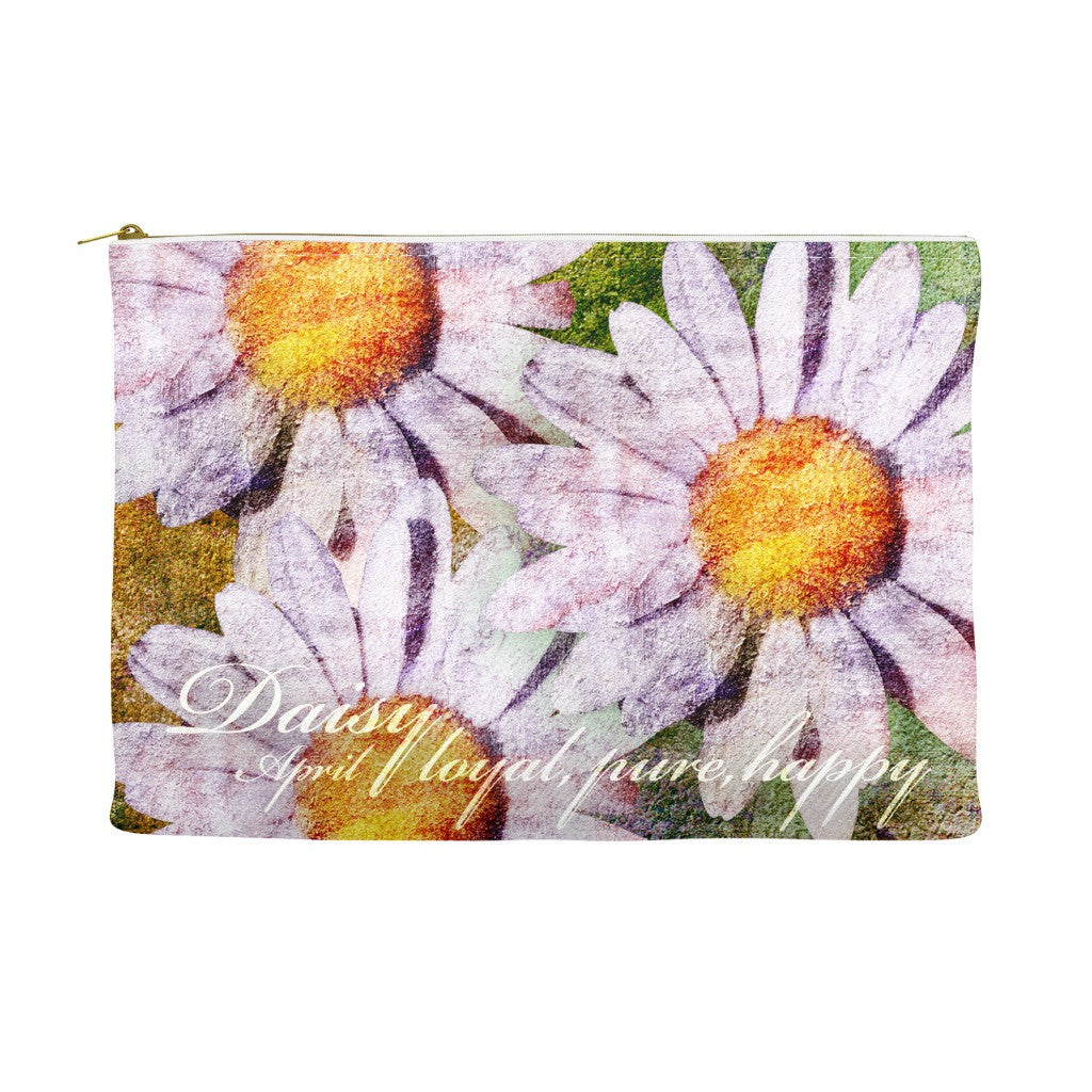 Birthday Blossom Cosmetic Pouch - April, Daisy