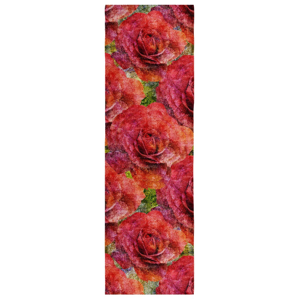 Birthday Blossom Poly Silk Scarf June, Rose