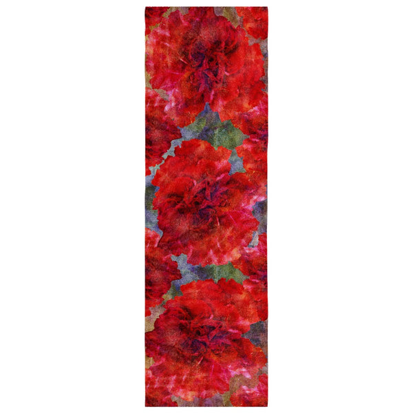 Birthday Blossom Poly Silk Scarf January, Carnation