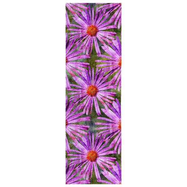 Birthday Blossom Poly Silk Scarf September, Aster