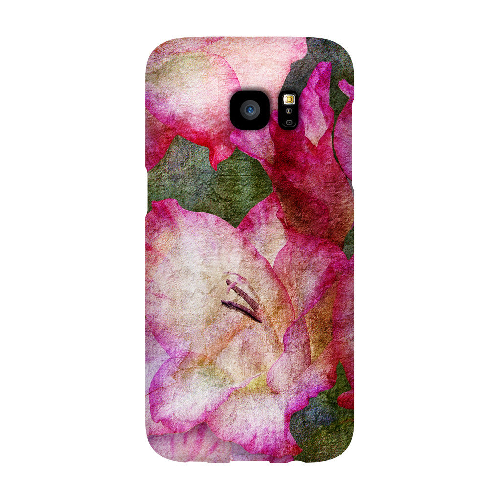 Birthday Blossoms August Gladiolus Phone Case Galaxy S7 EDGE