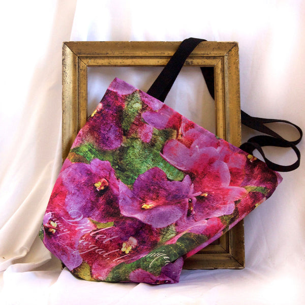Birthday Blossom Tote Bag - February Violet