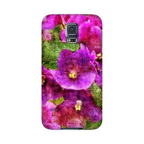 Birthday Blossoms February Violet Phone Case Galaxy5