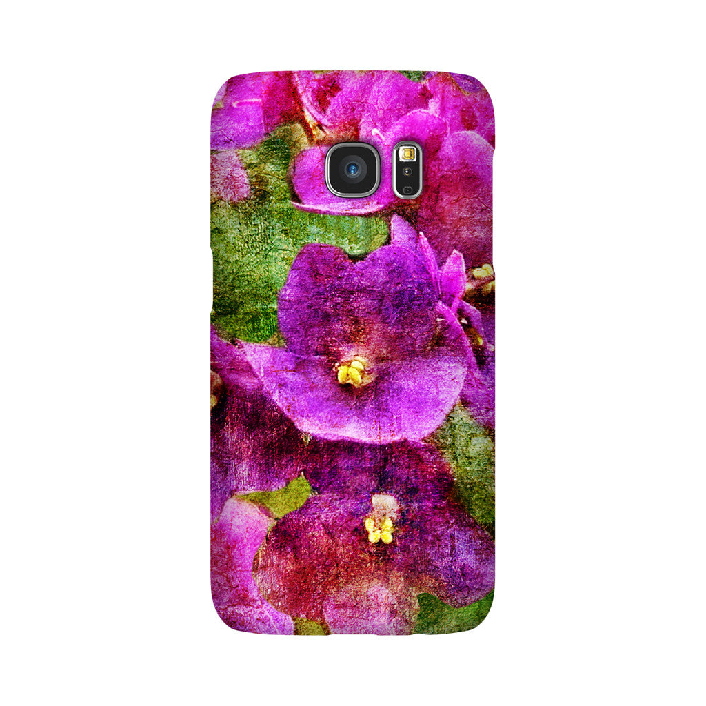 Birthday Blossoms February Violet Phone Case Galaxy S7