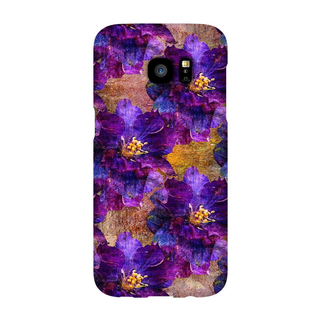 Birthday Blossoms July Larkspur Phone Case Galaxy S7 EDGE
