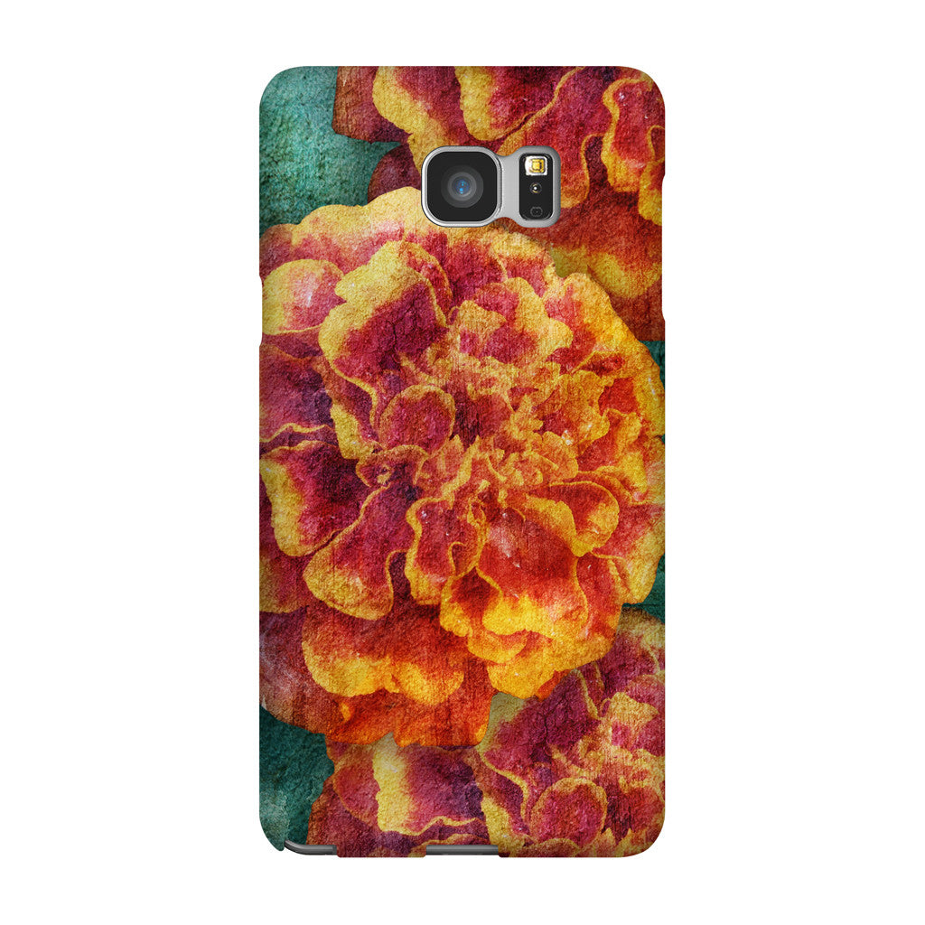 Birthday Blossoms October Marigold Phone Case Galaxy 5