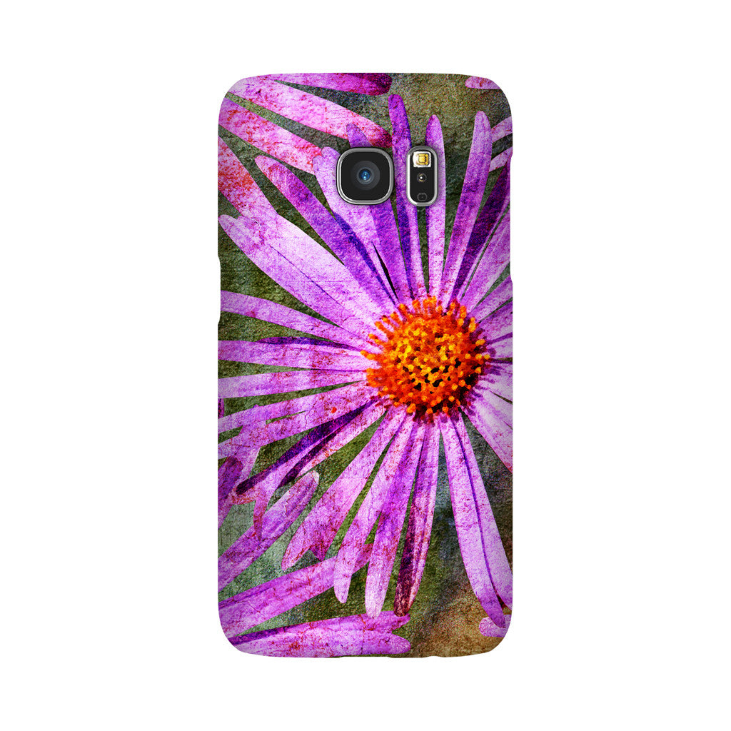 Birthday Blossoms September Aster Phone Case Galaxy S7