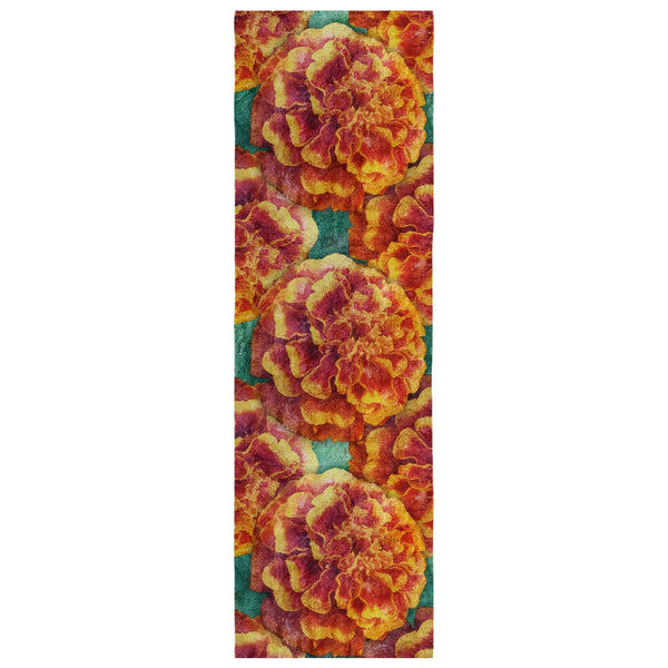 Birthday Blossom Poly Silk Scarf October, Marigold