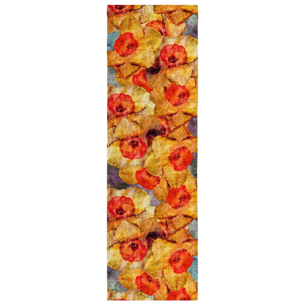 Birthday Blossom Poly Silk Scarf March, Daffodil