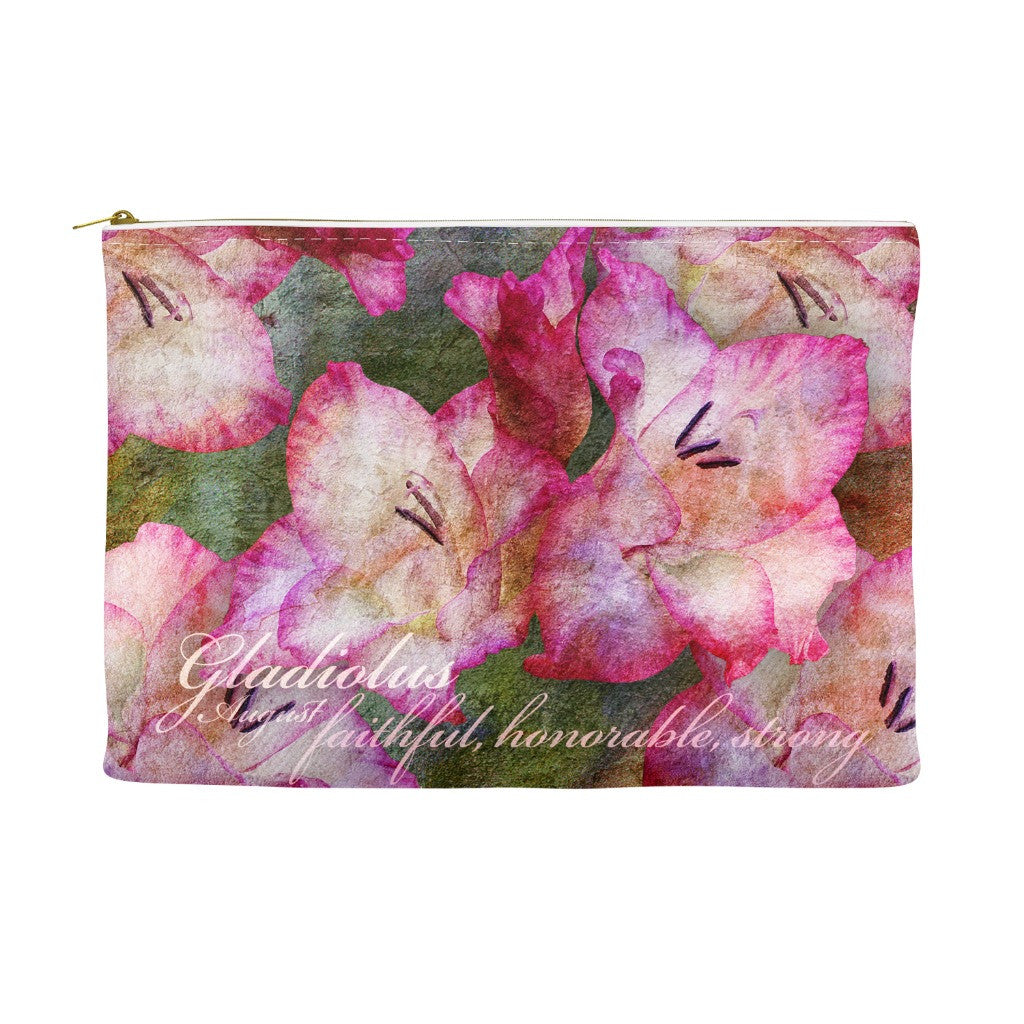 Birthday Blossom Cosmetic Pouch - August, Gladiolus