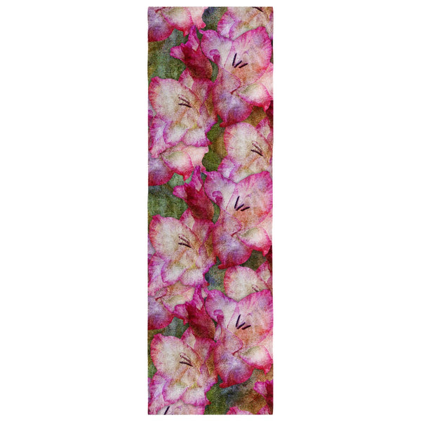 Birthday Blossom Poly Silk Scarf August, Gladiolus