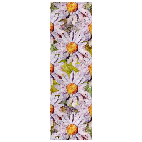 Birthday Blossom Poly Silk Scarf April, Daisy
