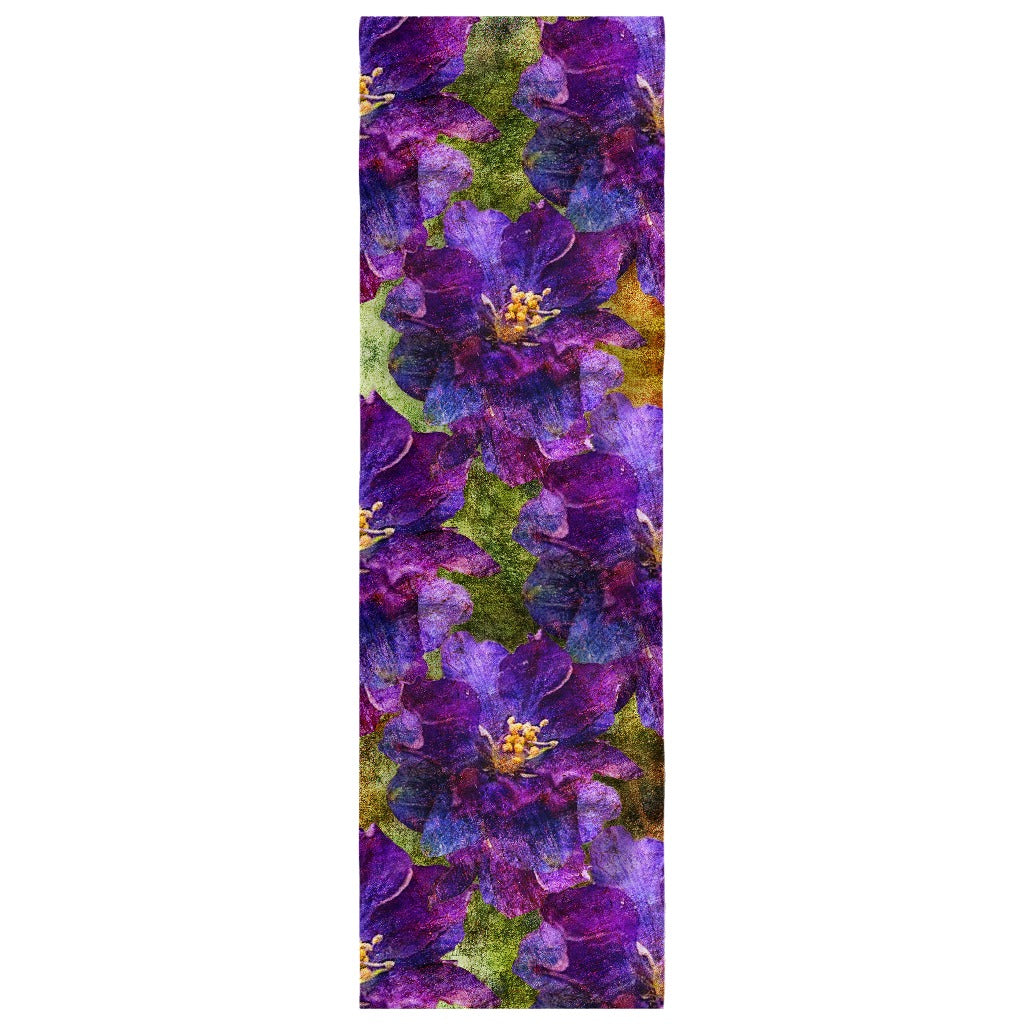 Birthday Blossom Poly Silk Scarf July, Larkspur