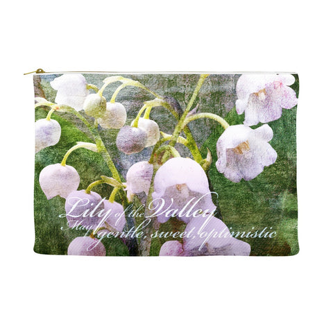Birthday Blossom Cosmetic Pouch - May, Lily of the Valley
