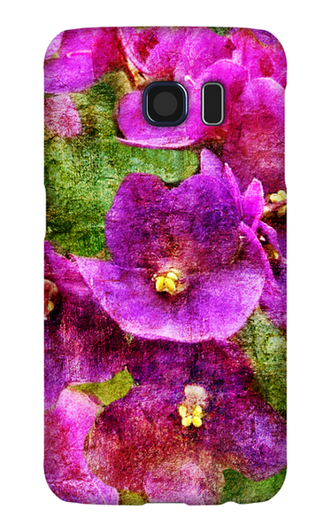 Birthday Blossoms February Violet Phone Case Galaxy S6