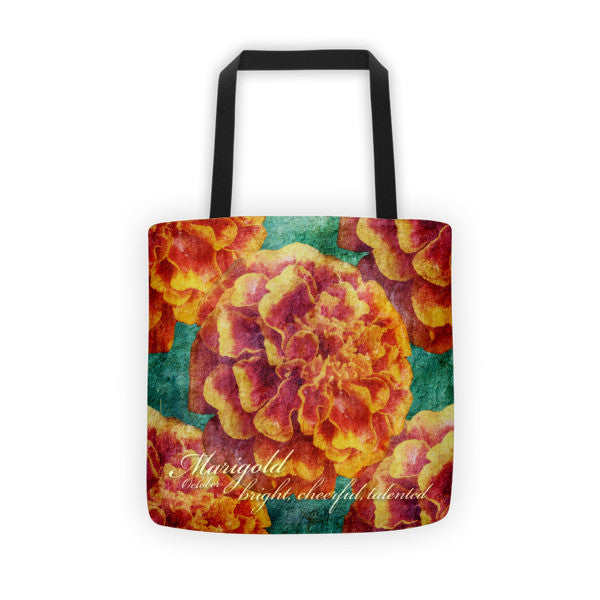 Birthday Blossom Tote Bag - October Marigold