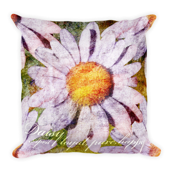 Birthday Blossom Accent Pillow - April, Daisy