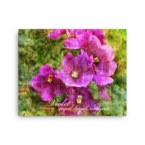 Birthday Blossoms Wall Art - Violet, with characteristic description