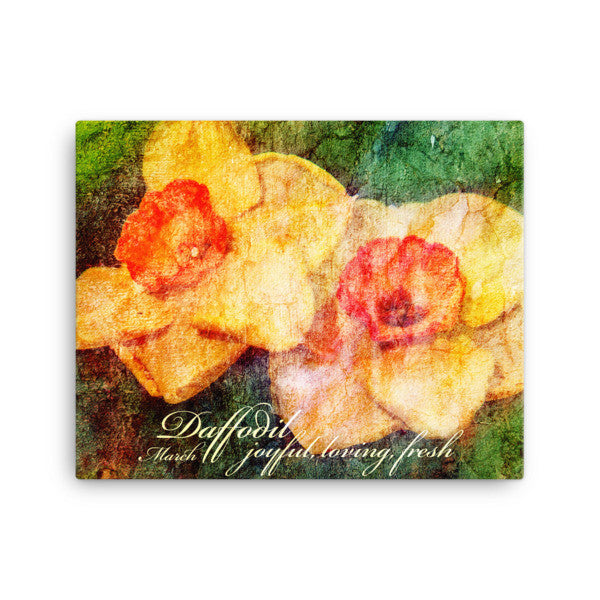 Birthday Blossoms Wall Art - Daffodil, with characteristic description
