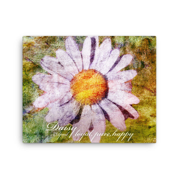 Birthday Blossoms Wall Art - Daisy, with characteristic description