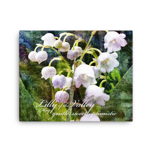 Birthday Blossoms Wall Art - Lilly of the Valley, with characteristic description