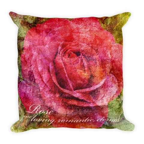 Birthday Blossom Accent Pillow - June, Rose