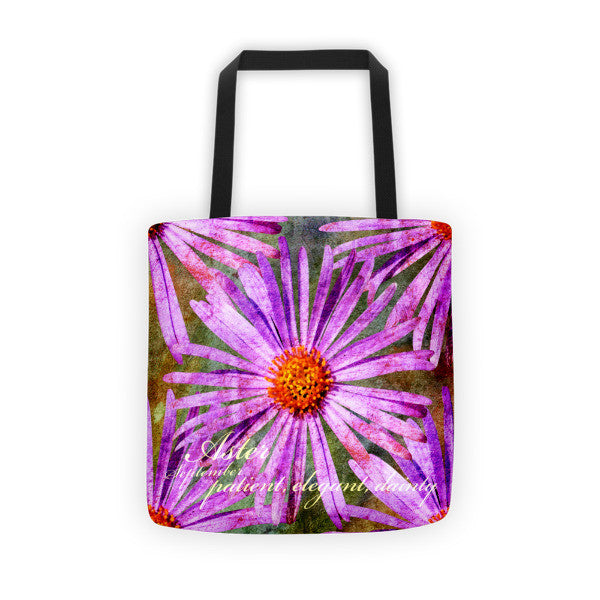 Birthday Blossom Tote Bag - September Aster