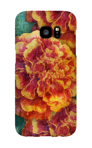 Birthday Blossoms October Marigold Phone Case Galaxy S7 EDGE