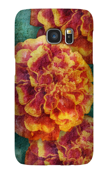 Birthday Blossoms October Marigold Phone Case Galaxy S7